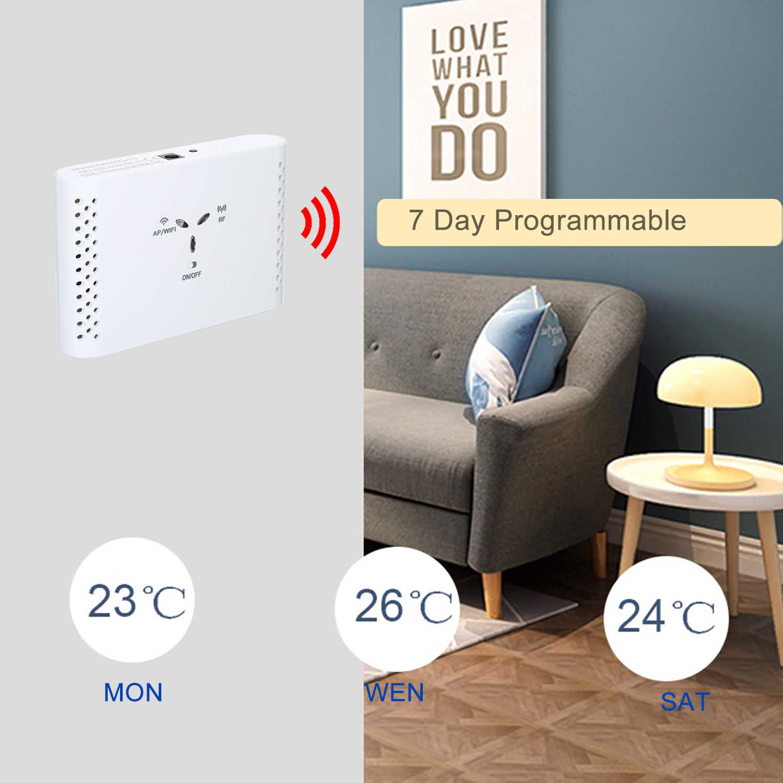 WiFi スマートサーモスタットラジエーターバルブ温度コントローラ水/電気床暖房水/ガス Alexa Google で動作
