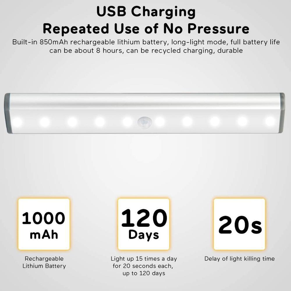 LED Strip 5V Usb Charging  Motion Sensor Under Cabinet Light Kitchen Lighting Cupboard Closet Bed Room Light LED Strip Lamp