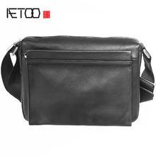 Кожаная сумка на плечо aetoo Мужская вместительная модная мессенджер