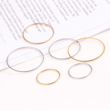 10pcs diy handmade accessories pure copper plated gold geometric round earring pendant diy jewelry materials