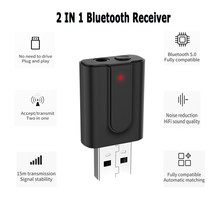 2In1 Bluetooth 5.0 Audio Receiver Transmitter RCA 3.5mm AUX Jack Hifi Stereo USB Wireless Adapter For TV PC Car Kit MP3(China)