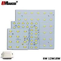 5/10Pcs LED PCB 6W 12W 18W LED Downlight אלומיניום צלחת תאורה צלעות קירור SMD5730 110lm /w כיכר אור מקור עבור פנל מנורות