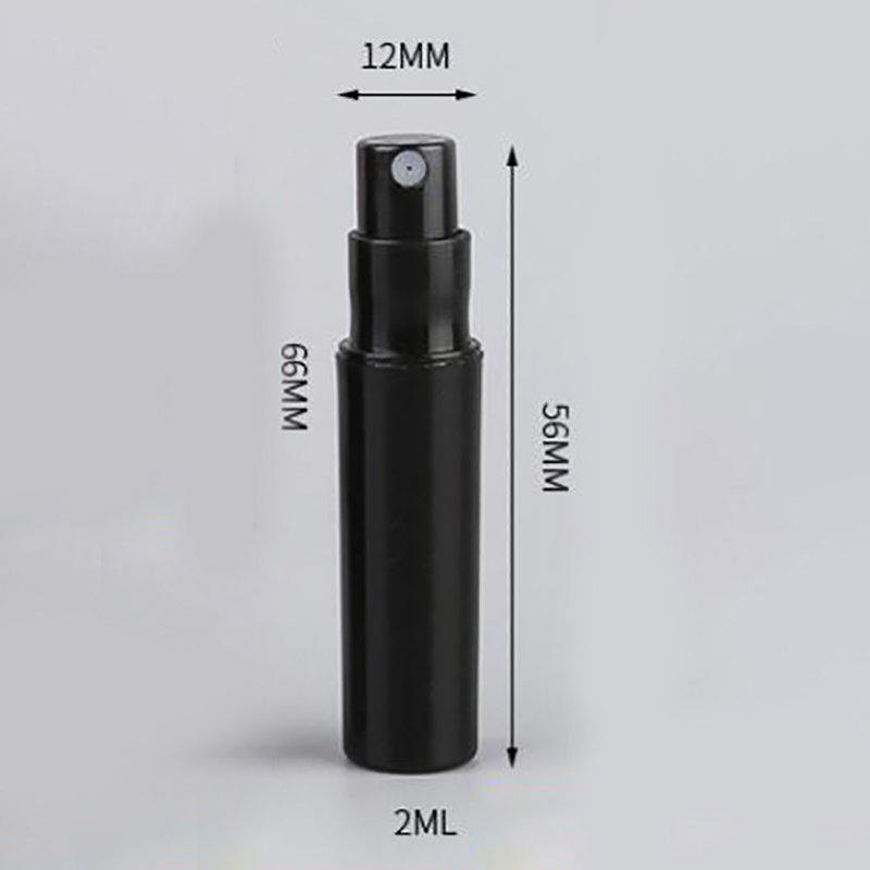 100Pcs / Lot 2Ml Black Plastic Perfume Spray Bottle Sample Spray Sprayer Atomizer Perfume Bottle-3