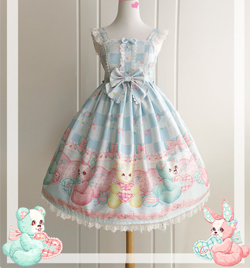 Lolita Dress Sweet Puppet Straps Lolita JSK Dress Girls Day Dress