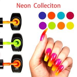 Image 1 - LOVCARRIE 8 PCS/Set UV Gel Nail Polish 6.5ml Soak Off Vernis Semi permanent Nail Art Bright Neon Color Gelpolish Varnish Lak
