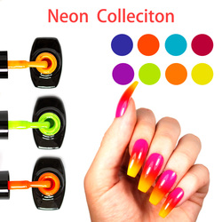 LOVCARRIE 8 PCS/Set UV Gel Nail Polish 6.5ml Soak Off Vernis Semi permanent Nail Art Bright Neon Color Gelpolish Varnish Lak