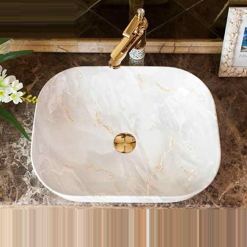 Bassin Da Appoggio Sobre Encimera Nablatowa Đen Umywalka Chậu Rửa De Mano Phòng Tắm Bồn Rửa Cuba Pia Banheiro Lavabo Rửa