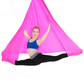 Elastic Yoga Hammock Kit Sports Aerial Multifunctional Tool Belts Flying With Chains Carabiners Swing Training Anti Gravity