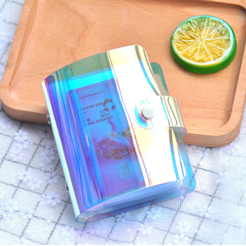 1pc Portable Laser Clutch Wallet 20 Bits Card Case Business ID Organizer Credit Cards Holder Fashion Men Women Wallets