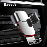 Baseus Gravity Car Phone Holder for Car CD Slot Air Vent Mount Phone Holder Stand for iPhone X Samsung Metal Mobile Phone Holder