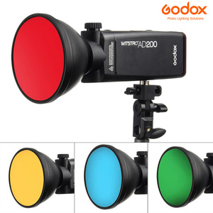 Image 3 - Godox AD S11 Color Gels Filter Honeycomb Grid +AD S2 Standard Reflector Soft Diffuser for Witstro AD 360 II AD360II AD180 AD200