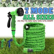 Wash-Spray Garden-Set Water-Hose Magic Expandable Hose-Pipe Plastic Flexible for 25FT-200FT