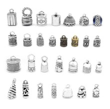 10pcs Antique Silver / Bronze Metal Hollow / Bell Shaped / Carved Stripe End Bead Caps Jewelry Material For DIY Jewelry Making  цена 2017