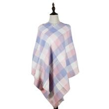 jzhifiyer YX182 65*180+2*2cm Fashion Wool Women Scarf Spain Desigual Plaid Thick Scarfs Warp Echarpes shawl