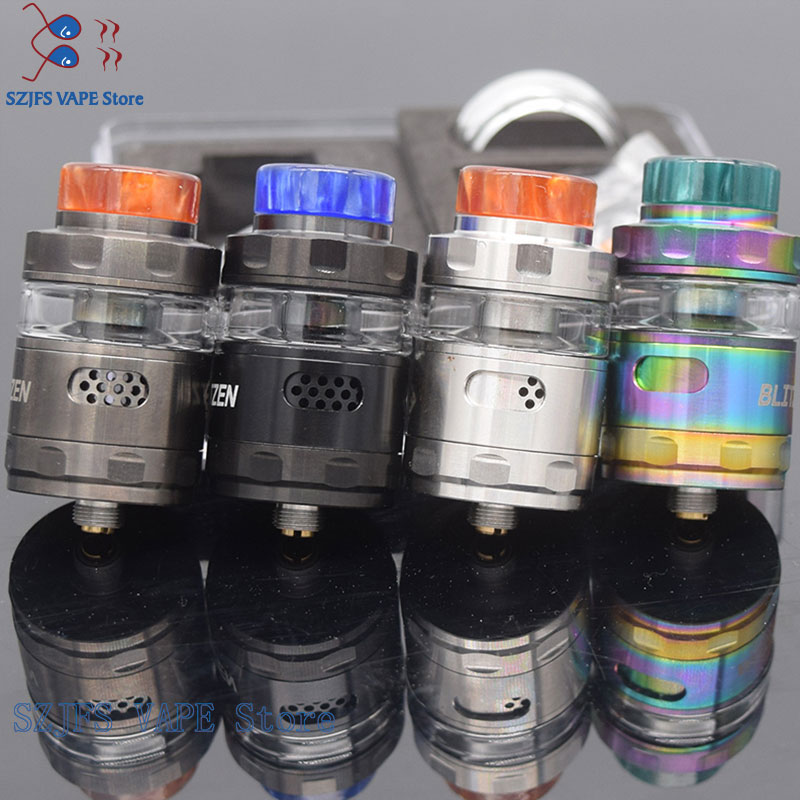 Blitzen RTA Atomizer 24mm Capacity 2ml/5ml For E-Cigarette 510 Thread Battery Box Vape Mod Vs Zeus X RTA Kayfun Lite  Kylin V2