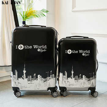 24 inch ABS+PC suitcase Travel trolley luggage 20'' carry on rolling luggage Cabin trolly bag for traveling kids Luggage bag - DISCOUNT ITEM  45% OFF All Category