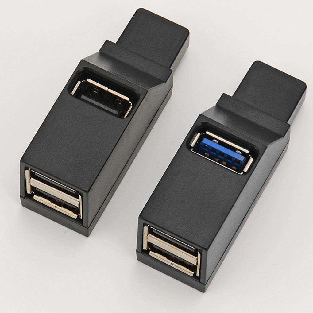 Brand New Universal Mini 3 Ports USB 2.0/3.0 Hub Laptop PC High Speed Data Transmission USB Splitter Adapter