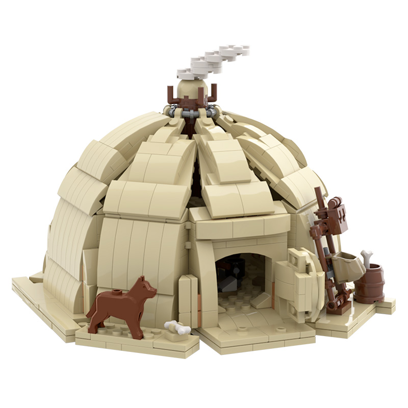 MOC City Tent Model Toys Assembly Suitable For Children Compatible Educational Building Blocks Birthday Present Ornaments Cities