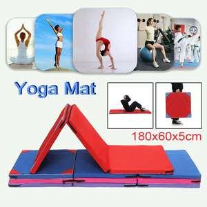 Yoga Mat Non Slip Folding Gym Gymnastics Mat Dance Exercise Fitness Judo Pilates Gym Indoor Outdoor Picnic Mat 180x60x5cm