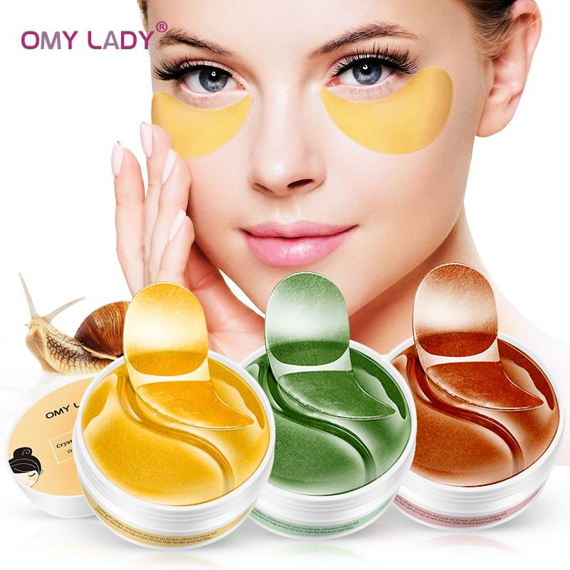 OMY LADY Crystal Eye Patch 60PCS Eye Mask Anti Wrinkles Remover Dark Circles Eye Care Moisturizing Gel