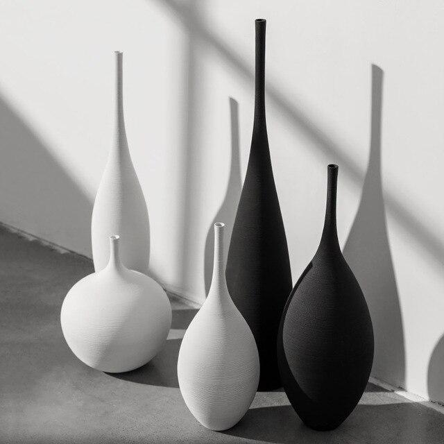 Jingdezhen Modern Minimalist Handmade Art Zen Vase Ceramic Ornaments Living Room Model Home Decoration 1