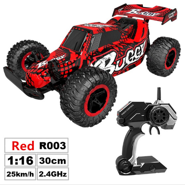 RC Car 2.4G Remote Control Off-road Vehicle Remote Control Cars Climb Buggy Trucks Boys Toys Rechargeable 1:16 3