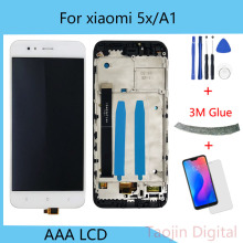 For 5.5 Xiaomi Mi A1 MiA1 LCD Screen Display+Touch Screen Digitizer Frame For Xiaomi 5X Mi 5X Mi5X LCD Display for xiaomi mi a1 lcd display mia1 mi5x mi 5x touch screen digitizer with frame replacement parts for xiaomi mi a1 lcd 5x display