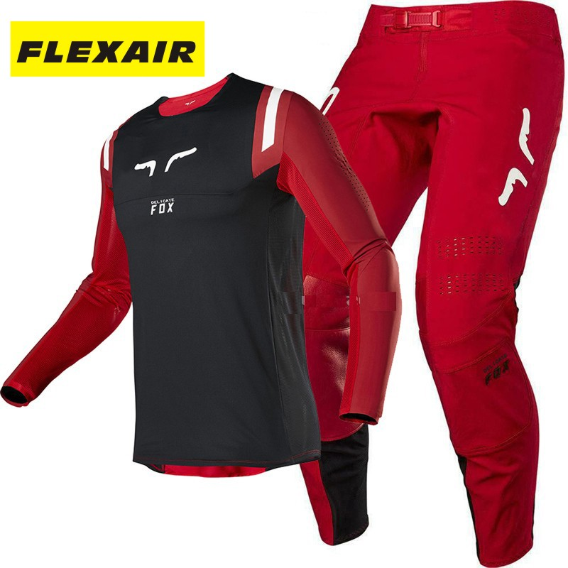 RAPIDLY FOX 2020 Motocross Suit Flexair Gear Set Jersey Pants Combination MX ATV Dirt Bike Off-Road Racing Protective Clothing