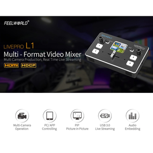 Image 2 - FEELWORLD LIVEPRO L1 Video Mixer Switcher 4 Channel Input USB3.0 Audio Embed De Embed for DSLR Video Live Streaming
