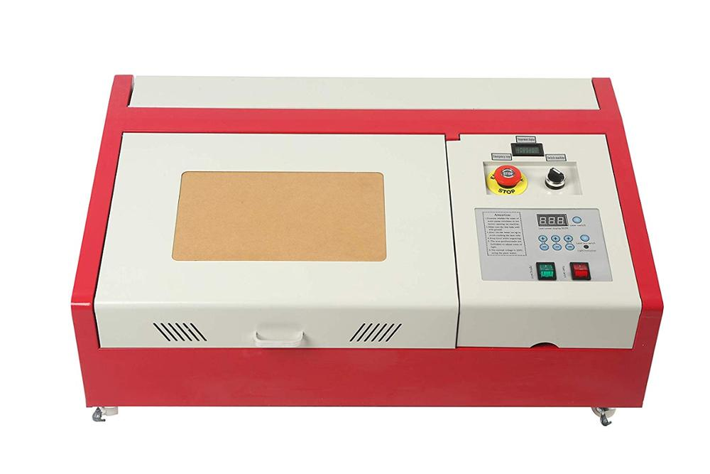 40W CO2 Laser Engraver Cutter, 12x8 Inches Laser Engraving Machine, DIY Desktop Wood Laser Engraver Cutter With Auxiliary Rotary
