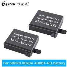 1-4 pièces 100% d'origine 2 pièces 3.8V 1600 mAh batterie rechargeable pour GoPro HERO4 GoPro AHDBT-401 AHBBP-401 accessoires de caméra d'action