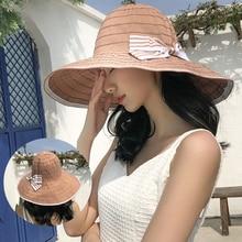 HT3070 большие широкими полями шляпа к 2020 году новые весна лето женщин packable анти-УФ Рыбалка крышка дамы пляж Солнца женщины ведро