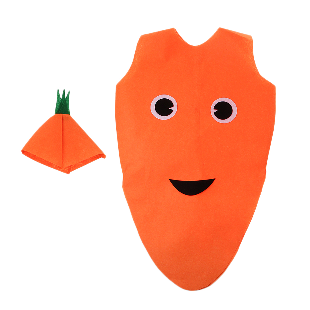 костюмы овощей для детей Kids Carrot Cosplay Clothes Festival Stage Game Costume Boy Girl Vegetable Outfit Party Suits
