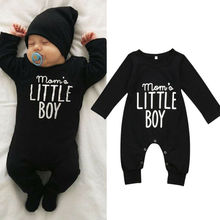 2019 Brand New Fashion Newborn Toddler Infant Baby Boys Romper Long Sleeve Jumpsuit Playsuit Little Boy Outfits Black Clothes newborn baby boys xx printed sleeveless romper jumpsuit summer kids leisure outfits playsuit fashion infant toddler clothes