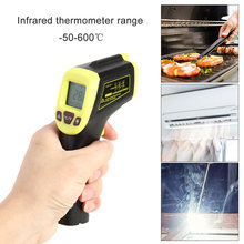 Digitale Infrarood Thermometer Laser Temperatuur Meter Contactloze Pyrometer Imager Hygrometer Ir Termometro Kleur Lcd Licht Alarm