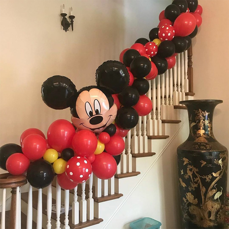 10pcs Mickey Mouse Party Latex Balloons For Adult Birthday Party Decorations 5