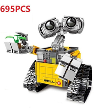 695PCS Building Blocks Creator Serie Idea Robot Blocks WELL E Action Figures Creators Building Blocks Compatible Technic  Toys
