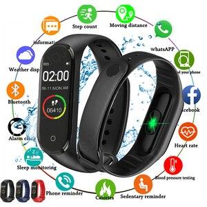 2020 M4 Smart Watch Fitness Bracelet Band Trcker Sport Pedometer Blood Pressure Heart Rate Smarthwatch For Women Men Wristbands