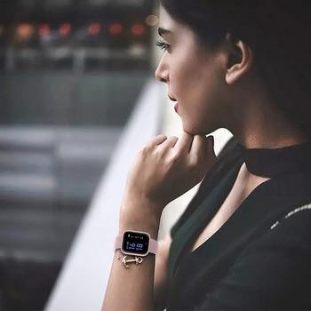 2019 New Women Waterproof Smart Watch T80 Bluetooth Smartwatch For Apple IPhone Xiaomi Heart Rate Monitor Fitness Tracker 1