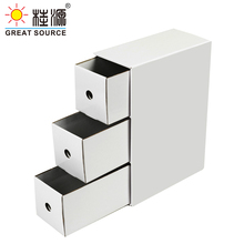 Paper 3-Drawers-Storage Office Cabinet Corrugate Kraft Composable Environment-Friendly