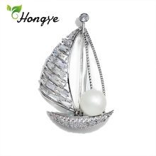 Brooches Party-Dress Pin Fine-Jewelry 925-Silver AAA Hongye Pearl Coat Shell-Pearls-Decorative