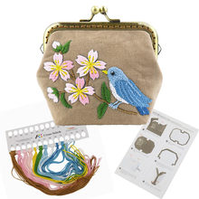 HaoFa Embroidery Purse Making Kits Bird And Flowers Cross Stitch Needlework Sewing Stitching Quilting for Beginners(China)