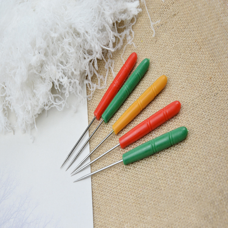 Poke Plastic Awl Needle DIY Handmade Tools Drill Punched Plastic Drill Teasing Needle Color Qian Mei Diantong