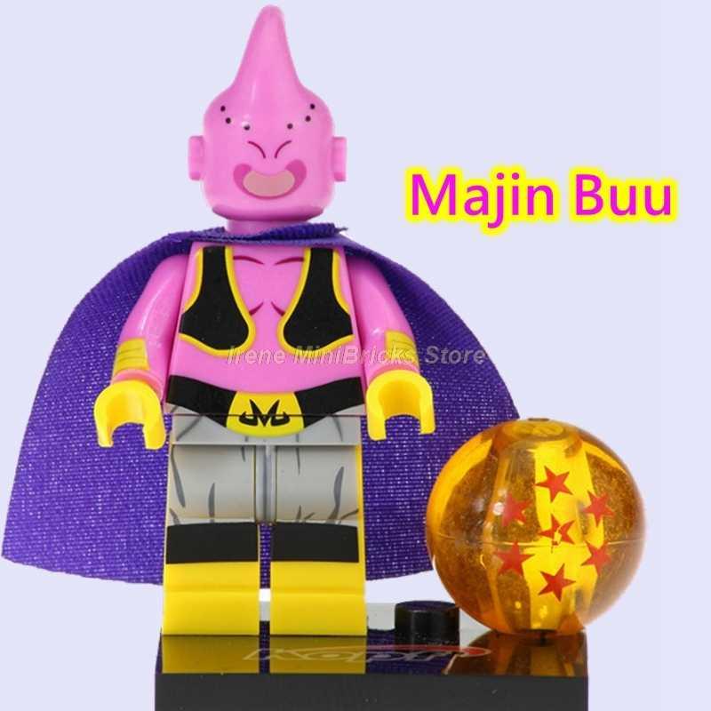 Dragon Ball Figures Black Goku Vegeta Majin Buu Beerus Son Goku Zamasu Janemba Cell Freiza Building Blocks Toys For Children