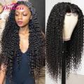 Волнистые волосы из натуральных волос, красивые волосы для маленькой принцессы, 360 фронтальные кружевные волосы, бразильские курчавые воло...