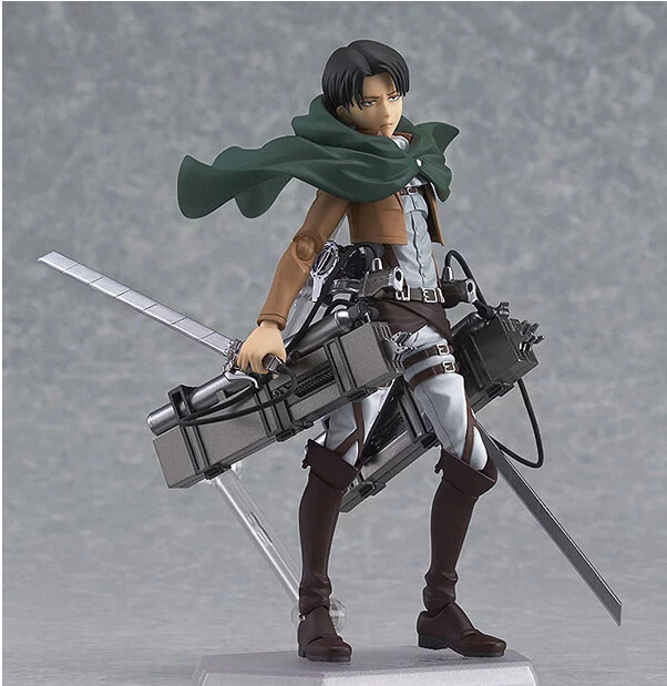 Attack on Titan Anime Figure Eren Mikasa Levi Ackerman Figma 213 PVC Action Figure Collection Model Toy Collection Best Gift