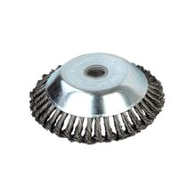 25MM Aperture 8 Inch Steel Wire Weeding Brush Twisted Bowl Type Rotating Wheel Weed Trimmer