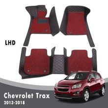 Alfombrillas de doble capa para coche, para Chevrolet Trax Tracker Holden 2018, 2017, 2016, 2015, 2014, 2013, felpudos personalizados