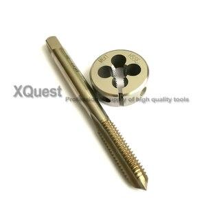 Image 2 - HSSE Metric screw Hand tap Split Die set M6 M6X1.25 M6X1 Fine thread Round dies taps M6X0.75 M6X0.5  for stainless steel