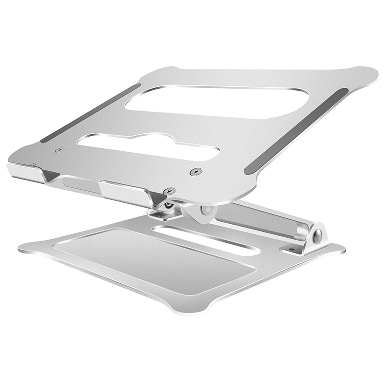 Laptop-Stand Foldable Aluminum Suitable-For 11-To-17-Inch Silver Office